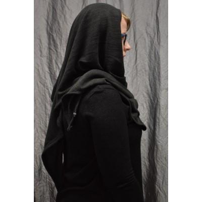 Kolmio-Poncho tumman harmaa