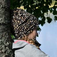 Trikoopipo Leopardi ruskea