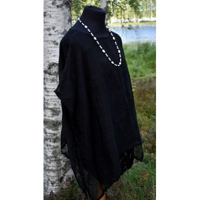 Pellava-Tunika musta