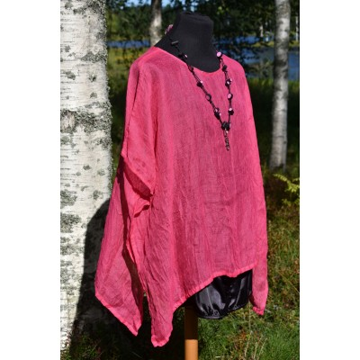Pellava-Tunika pinkki
