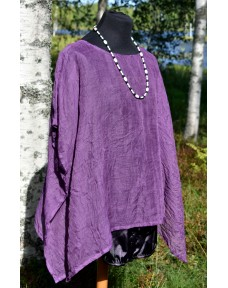 Pellava-Tunika violetti