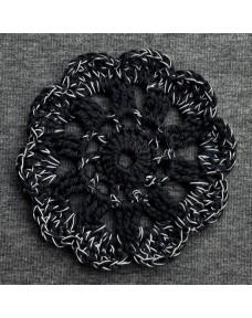 Pitsikukkapipo Meleerattu harmaa-Musta