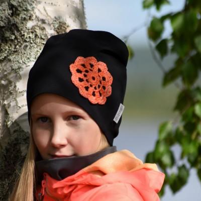 Pitsikukkapipo Musta-Oranssi