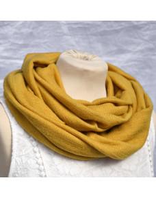 Tuubihuivi Talvi-neulos keltainen