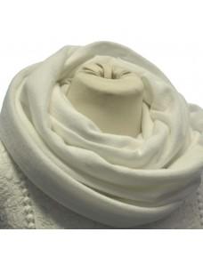 Tuubihuivi Talvi-neulos valkoinen