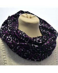 Tuubihuivi Trikoo leopardi violetti